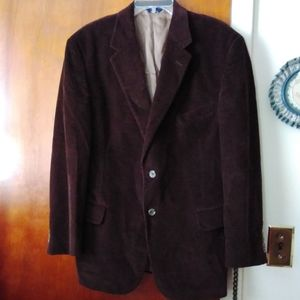 Brooks Brothers Brown Corduroy Blazer 42 Reg